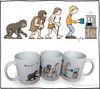Cartoon: Evolution des Kaffeetrinkers (small) by Hannes tagged kaffee,evolution,kaffeetrinker,kaffeetasse,tasse