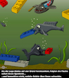 Cartoon: Langeoog 2 (small) by PuzzleVisions tagged puzzlevisions,container,über,bord,langeoog,fische,afd,legosteine,lego