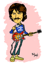 Cartoon: George Harrison (small) by Marty Street tagged beatles,george