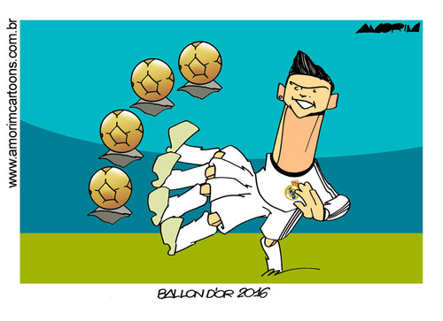 Cartoon: Cristiano Ronaldo (medium) by Amorim tagged ronaldo,cristiano,dor,ballon
