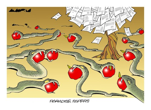 Cartoon: Tree of the knowledge (medium) by Amorim tagged paradise,papers