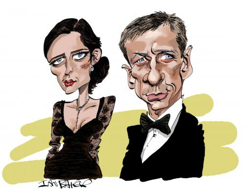 Cartoon: Casino Royale (medium) by Ian Baker tagged bond,daniel,craig,007,caricature