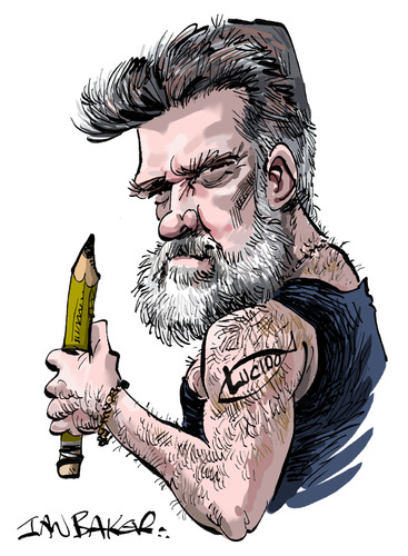 Cartoon: Lucido (medium) by Ian Baker tagged lucido,lucido5,lucian,romania,cartoonist,caricatures,pencil,tattoo,toonpool
