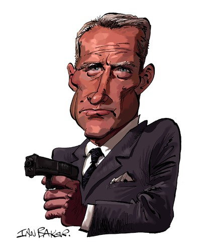 Cartoon: Red Grant (medium) by Ian Baker tagged guy,bad,007,sixties,gun,villain,love,with,russia,from,spies,caricature,bond,james,shaw,robert,grant,red