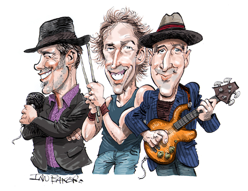 Cartoon: The Music of Cream (medium) by Ian Baker tagged ian,baker,caricature,music,gigs,rock,60s,cream,eric,clapton,ginger,jack,bruce,kids,blues,will,johns,kofi,malcolm