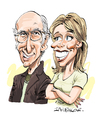 Cartoon: Curb Your Enthusiasm (small) by Ian Baker tagged larry,david,cheryl,hines,seinfeld,comedy,caricature,curb,your,enthusiasm
