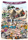 Cartoon: Dune Fest event poster (small) by Ian Baker tagged spring,break,america,usa,beach,california,women,girls,men,naked,topless,boobs,cars,beer,jack,daniels,raccoon,games,water,sea,sexy,sex,bikes,dunes,sand,event,party,ian,baker,cartoon,illustration,poster,naughty,crowds,people,bikini,camel,camels,buggy