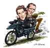 Cartoon: Street Hawk (small) by Ian Baker tagged street hawk jesse mach norman tuttle rex smith joe regalbuto motorbike bike action tv caricature