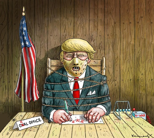 Cartoon: HANNIBAL LECTER TRUMP (medium) by marian kamensky tagged hannibal,lecter,trump,presidentenwahlen,in,usa,hannibal,lecter,trump,presidentenwahlen,in,usa
