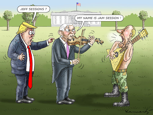 Cartoon: JAM SESSION WITH PUTIN (medium) by marian kamensky tagged obama,trump,präsidentenwahlen,usa,baba,vanga,republikaner,inauguration,demokraten,jeff,sessions,wikileaks,faschismus,obama,trump,präsidentenwahlen,usa,baba,vanga,republikaner,inauguration,demokraten,jeff,sessions,wikileaks,faschismus
