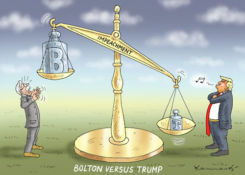 Cartoon: JOHN BOLTON VERSUS TRUMP (medium) by marian kamensky tagged selenskyj,ukraine,rüstungsgeld,trump,wahllampfhilfe,joe,biden,amtsenthebungsverfahren,impeachment,john,bolton,selenskyj,ukraine,rüstungsgeld,trump,wahllampfhilfe,joe,biden,amtsenthebungsverfahren,impeachment,john,bolton