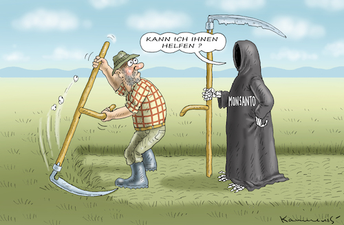 Cartoon: MONSANTO HILFT (medium) by marian kamensky tagged helpful,monsanto,glyphosat,krebs,helpful,monsanto,glyphosat,krebs