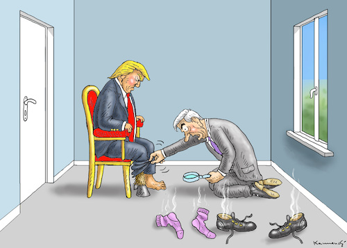 Cartoon: MUELLER UNTERSUCHT TRUMP (medium) by marian kamensky tagged obama,trump,präsidentenwahlen,usa,baba,vanga,republikaner,inauguration,demokraten,us,steuer,reform,weihnachten,robert,mueller,wikileaks,faschismus,obama,trump,präsidentenwahlen,usa,baba,vanga,republikaner,inauguration,demokraten,us,steuer,reform,weihnachten,robert,mueller,wikileaks,faschismus