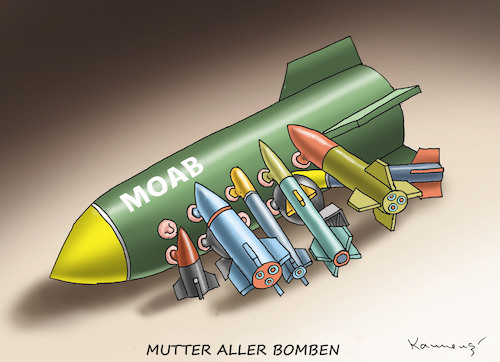 Cartoon: MUTTER ALLER BOMBEN (medium) by marian kamensky tagged mutter,aller,bomben,moab,mutter,aller,bomben,moab