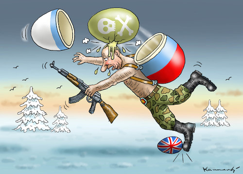 Cartoon: NOT HAPPY EASTER WITH PUTIN (medium) by marian kamensky tagged theresa,may,putin,sergei,skripal,novichok,russia,kgb,poison,attack,england,agents,theresa,may,putin,sergei,skripal,novichok,russia,kgb,poison,attack,england,agents