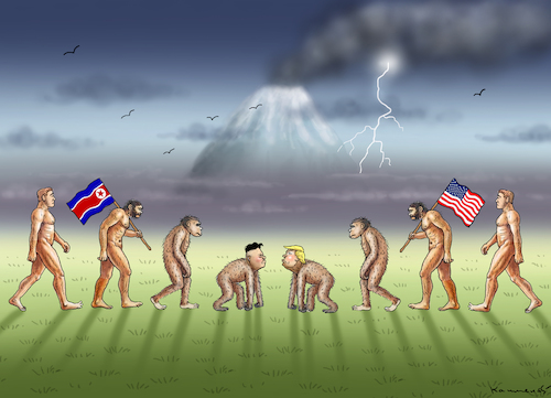 Cartoon: OST GEGEN WEST (medium) by marian kamensky tagged obama,trump,präsidentenwahlen,usa,baba,vanga,republikaner,inauguration,demokraten,kim,jong,un,wikileaks,faschismus,obama,trump,präsidentenwahlen,usa,baba,vanga,republikaner,inauguration,demokraten,kim,jong,un,wikileaks,faschismus