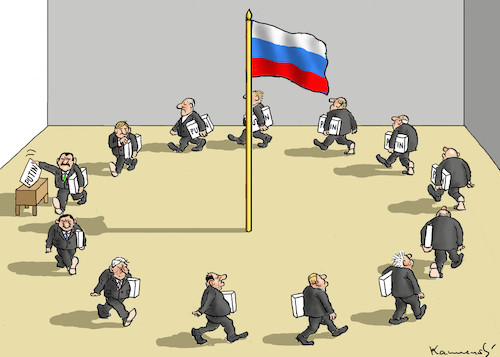 Cartoon: PUTIN FOREVER (medium) by marian kamensky tagged theresa,may,putin,sergei,skripal,novichok,russia,kgb,poison,attack,england,agents,theresa,may,putin,sergei,skripal,novichok,russia,kgb,poison,attack,england,agents