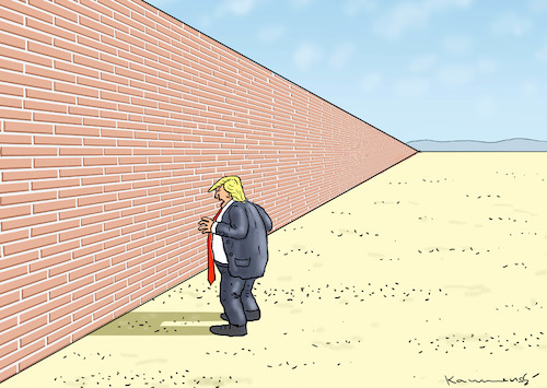Cartoon: SHUTDOWN WALL (medium) by marian kamensky tagged obama,trump,präsidentenwahlen,usa,baba,vanga,republikaner,inauguration,demokraten,wikileaks,faschismus,jamal,khashoggi,shutdown,happy,new,year,2019,obama,trump,präsidentenwahlen,usa,baba,vanga,republikaner,inauguration,demokraten,wikileaks,faschismus,jamal,khashoggi,shutdown,happy,new,year,2019