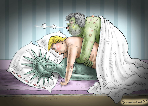 Cartoon: TRUMPBANNON MAKES LOVE (medium) by marian kamensky tagged obama,trump,präsidentenwahlen,usa,baba,vanga,republikaner,inauguration,demokraten,bannon,liberty,wikileaks,faschismus,obama,trump,präsidentenwahlen,usa,baba,vanga,republikaner,inauguration,demokraten,bannon,liberty,wikileaks,faschismus