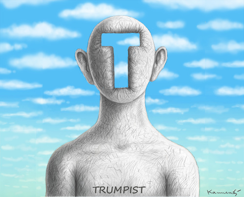 Cartoon: TRUMPIST (medium) by marian kamensky tagged obama,trump,präsidentenwahlen,usa,baba,vanga,republikaner,inauguration,demokraten,wikileaks,faschismus,obama,trump,präsidentenwahlen,usa,baba,vanga,republikaner,inauguration,demokraten,wikileaks,faschismus