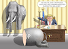 Cartoon: ANTIELEPHANTIST TRUMP (small) by marian kamensky tagged obama,trump,präsidentenwahlen,usa,baba,vanga,republikaner,inauguration,demokraten,wikileaks,faschismus