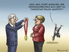 Cartoon: BEINAH NOBELPREIS (small) by marian kamensky tagged friedennobelpreis,2015,merkel,tunesisches,dialog,quartett
