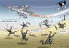 Cartoon: BUNDESWEHR TORNADOS IN SYRIEN (small) by marian kamensky tagged ursula,und,die,m36,puma,panzer,bremsproblem,doktortitel,plagiatsvorwürfe,rettet,bundeswehrbundeswehr,tornados,in,syrien