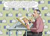Cartoon: DANKE MARK ZUCKENBERG ! (small) by marian kamensky tagged zuckerberg,trump,digitale,affäre,populismus,betrug,cambridge,analytica