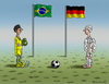 Cartoon: Deutschland Brasilien (small) by marian kamensky tagged fifa,wm,brasilien,katar,korruption,fussball,deutschland,sepp,blatter,papst,franziskus