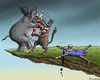 Cartoon: Fiscal cliff of the uncle Sam (small) by marian kamensky tagged finanzkippe,usa,obama,republikaner,demokraten,finanzkrise,haushatsloch