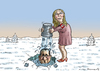 Cartoon: FRENCH ICE BUCKED CHALLENGE (small) by marian kamensky tagged happy,new,year,2015,marine,le,pen,putin,front,national,faschismus,nationalismus