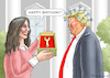 Cartoon: HAPPY BIRTHDAY-TRUMP (small) by marian kamensky tagged coronavirus,epidemie,gesundheit,panik,stillegung,george,floyd,twittertrump,pandemie