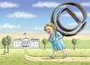 Cartoon: HILLARY CLINTON (small) by marian kamensky tagged mail,affair,clinton,trump,presidentenwahlen,usa