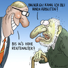 Cartoon: Hohes Rentenalter (small) by marian kamensky tagged renten,hohes,alter,rentensystem