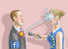 Cartoon: MARK ZUCKERBERG AND MRS. EUROPA (small) by marian kamensky tagged mark,zuckerberg,and,mrs,europa,datenskandal
