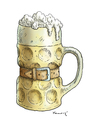 Cartoon: Masskrug (small) by marian kamensky tagged masskrug,bayern,schlanke,linie,alkohol