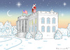 Cartoon: MERRY CHRISTMAS MR. PRESIDENT ! (small) by marian kamensky tagged obama,trump,präsidentenwahlen,usa,baba,vanga,republikaner,inauguration,demokraten,us,steuer,reform,weihnachten,wikileaks,faschismus