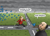 Cartoon: Hitchcocks Neuland (small) by marian kamensky tagged angela,merkel,neuland,twitter,facebook,obama,nsa,usa,internet,soziale,netzwerke