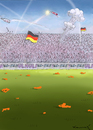 Cartoon: Oranje Fetzen (small) by marian kamensky tagged fussbal,em