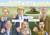 Cartoon: NAZIS FIRST (small) by marian kamensky tagged obama,trump,präsidentenwahlen,usa,baba,vanga,republikaner,inauguration,demokraten,wikileaks,faschismus