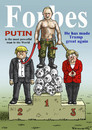 Cartoon: PUTIN AND THE FORBES MAGAZINE (small) by marian kamensky tagged putin,and,the,forbes,magazine