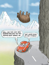 Cartoon: Swiss bear was stunned (small) by marian kamensky tagged nature,swiss,bear,natural,disaster