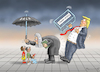 Cartoon: THE SETBACK FOR TRUMP (small) by marian kamensky tagged obama,trump,präsidentenwahlen,usa,baba,vanga,republikaner,inauguration,demokraten,wikileaks,g7,kanada,faschismus