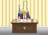 Cartoon: TRUMP AND THE SHARPIE GATE (small) by marian kamensky tagged brexit,theresa,may,england,eu,schottland,weicher,wahlen,boris,johnson,nigel,farage,ostern,seidenstrasse,xi,jinping,referendum,trump,monsanto,bayer,glyphosa,strafzölle,el,paso
