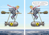 Cartoon: TRUMP RATLOS MIT DORIAN (small) by marian kamensky tagged brexit,theresa,may,england,eu,schottland,weicher,wahlen,boris,johnson,nigel,farage,ostern,seidenstrasse,xi,jinping,referendum,trump,monsanto,bayer,glyphosa,strafzölle,hurrikan,dorian