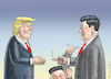 Cartoon: TRUMP TRIFFT BALD XI JINPING (small) by marian kamensky tagged trump,trifft,bald,xi,jinping