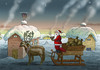 Cartoon: Vollbedröhnter Santa Klaus (small) by marian kamensky tagged santa,klaus,drohnen,amazon