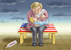 Cartoon: WARUM MERKEL BESUCHT TRUMP (small) by marian kamensky tagged merkel,besucht,trump