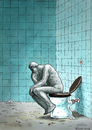 Cartoon: WC Thinker (small) by marian kamensky tagged rodin,denker,thinker