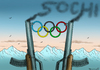 Cartoon: Winter Olympia in Sochi (small) by marian kamensky tagged putin,sochi,winter,olympia,homophobie,terrorismus